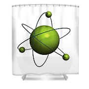Atom Structure Shower Curtain by Johan Swanepoel