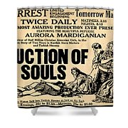 Auction Of Souls Shower Curtain by Digital Reproductions