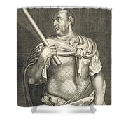 Aullus Vitellius Emperor Of Rome Shower Curtain by Titian