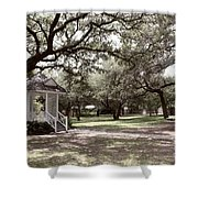 Austin Texas Southern Garden - Luther Fine Art Shower Curtain by Luther  Fine  Art