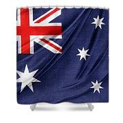 Australian Flag Shower Curtain by Les Cunliffe