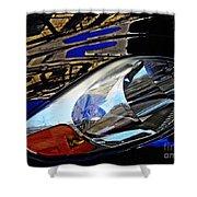 Auto Headlight 113 Shower Curtain by Sarah Loft
