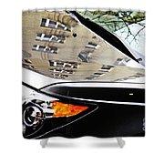 Auto Headlight 98 Shower Curtain by Sarah Loft