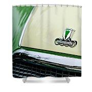 Auto Union Dkw Hood Emblem Shower Curtain by Jill Reger