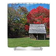 Autum For A Mountain Home Shower Curtain by Skip Willits
