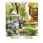 Autumn At The Rectory Shower Curtain by Kip DeVore