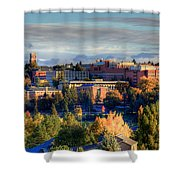 Autumn At Wsu Shower Curtain by David Patterson