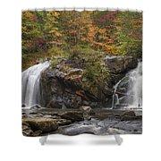 Autumn Cascades Shower Curtain by Debra and Dave Vanderlaan