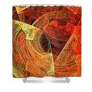 Autumn Chaos Shower Curtain by Andee Design