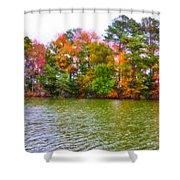 Autumn Color In Norfolk Botanical Garden 3 Shower Curtain by Lanjee Chee
