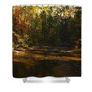 Autumn Colors By The Creek  Shower Curtain by Saija  Lehtonen