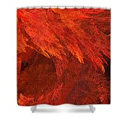 Autumn Fire Pano 2 Vertical Shower Curtain by Andee Design