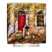 Autumn - House - A Hint Of Autumn Shower Curtain by Mike Savad