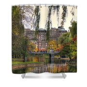 Autumn in Boston Garden Shower Curtain by Joann Vitali