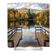 Autumn in Glencoe Lochan Shower Curtain by Dave Bowman