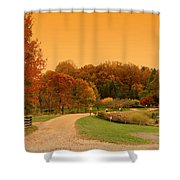 Autumn In The Park - Holmdel Park Shower Curtain by Angie Tirado