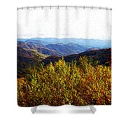Autumn In The Smokey Mountains Shower Curtain by Phil Perkins