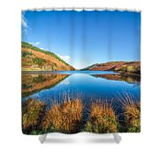 Autumn Lake Shower Curtain by Adrian Evans