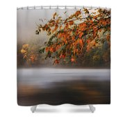 Autumn Lake Shower Curtain by Bill  Wakeley