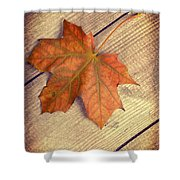 Autumn Leaf Shower Curtain by Amanda And Christopher Elwell