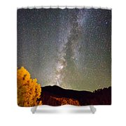 Autumn Milky Way Night Sky Shower Curtain by James BO  Insogna
