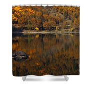 Autumn Reflections Shower Curtain by Mike  Dawson