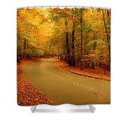 Autumn Serenity - Holmdel Park  Shower Curtain by Angie Tirado