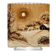Autumn Snow Shower Curtain by Barbara Griffin