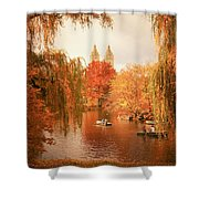 Autumn Trees - Central Park - New York City Shower Curtain by Vivienne Gucwa