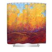 Autumn's Blaze Shower Curtain by Nancy Jolley