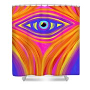 Awakening The Desert Eye Shower Curtain by Daina White