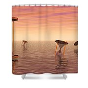 Awash In Time Shower Curtain by Jerry McElroy