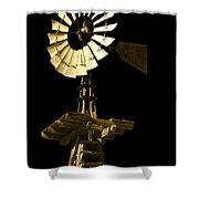 Awesome Aermotor Shower Curtain by Anne Mott