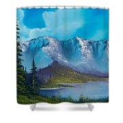 Azure Ridge Shower Curtain by C Steele