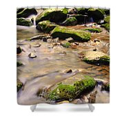 Babbling Brook Shower Curtain by Frozen in Time Fine Art Photography