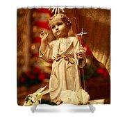 Baby Jesus Shower Curtain by Gaspar Avila