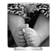 Baby Toes Shower Curtain by Lisa  Phillips