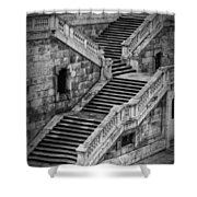 Back Entrance Shower Curtain by Joan Carroll