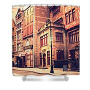 Back In Time - Stone Street Historic District - New York City Shower Curtain by Vivienne Gucwa