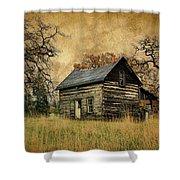 Backwoods Cabin Shower Curtain by Steve McKinzie