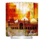 Badshahi Mosque Or The Royal Mosque Shower Curtain by Catf