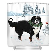 Bah Humbug Merry Christmas Large Shower Curtain by Liane Weyers