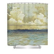 Bahama Island Light Shower Curtain by Thomas Moran