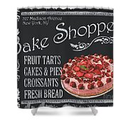 Bake Shoppe Shower Curtain by Debbie DeWitt