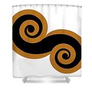 Balance Shower Curtain by Frank Tschakert