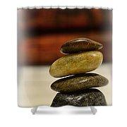 Balanced Shower Curtain by Paul Ward