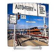 Balboa Island Auto Ferry In Newport Beach California Shower Curtain by Paul Velgos