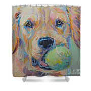 Ball Shower Curtain by Kimberly Santini