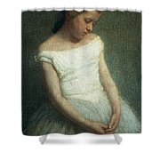 Ballerina female dancer Shower Curtain by Angelo Morbelli