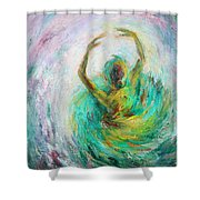 Ballerina Shower Curtain by Xueling Zou